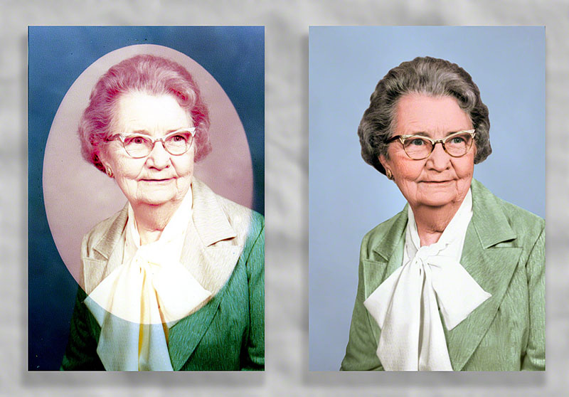 frame color damage restored by heritage