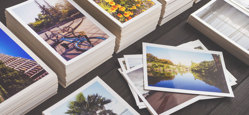 stack of photos printed