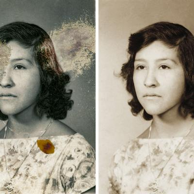 Amazing Photo Restoration With Facial Reconstruction