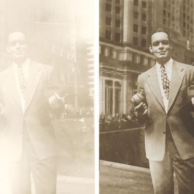 Grandpa Faded Photo Restoration Downtown Newyork