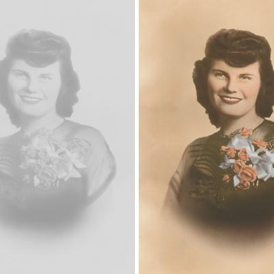 Mothers Day Digital Photo Restoration And Colorization