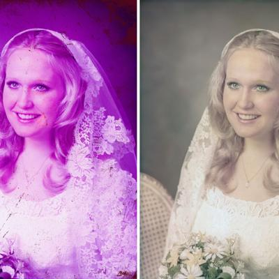 Old Wedding Photos Restored