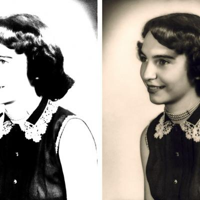 Overexposed Photo Restoration With Sepia Toning