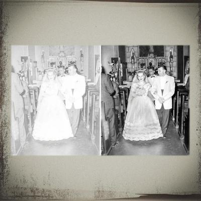 major damage to wedding photo erased by Heritage
