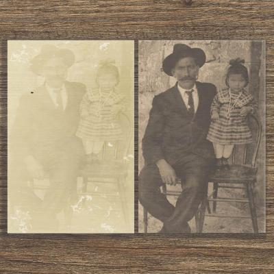 Photo Found in Old Mexico - vintage photo restoration by Jack