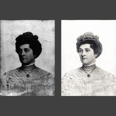 damaged antique photo - photograph repair by heritage