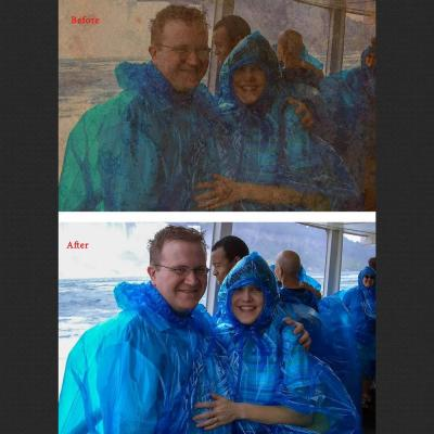 Ugly Vacation Photo Repair example